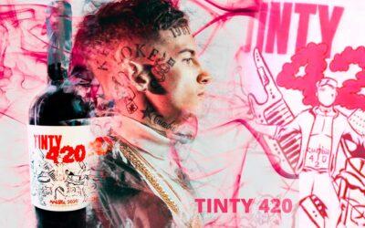 """Cuánto sale y cómo es """"Tinty 420"""", el vino que L-Gante presentó en Mendoza"""